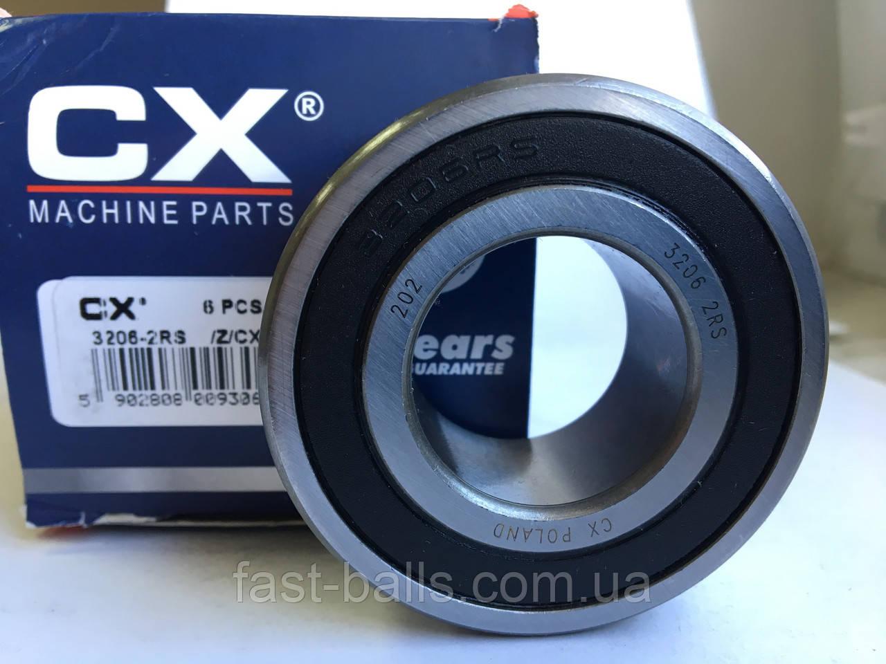 Подшипник CX 3206 2RS (30x62x23.8) двухрядный