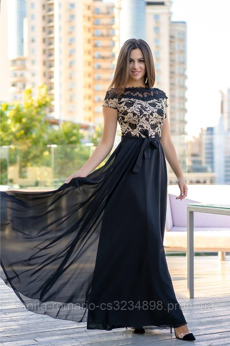Вечернее платье 9141e Чёрный S M L