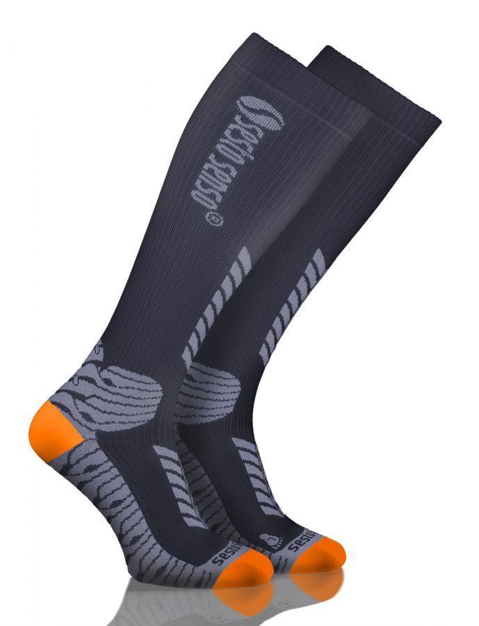 Носки спортивные Sesto Senso Sport Kompression (original) высокие компрессионные для бега, гольфы SportLavka