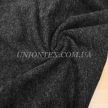 Трикотаж ангора софт на флисе черный меланж, фото 3