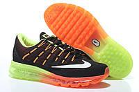 Кроссовки мужские Nike Air Max 2016 black-green-orange