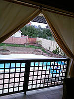 Пошив штор на веранду