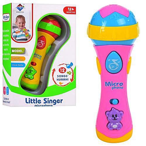 Мікрофон 2807-17 2 кольори, музика, світло, на батарейки, в коробці, 24.5*15*8.5см