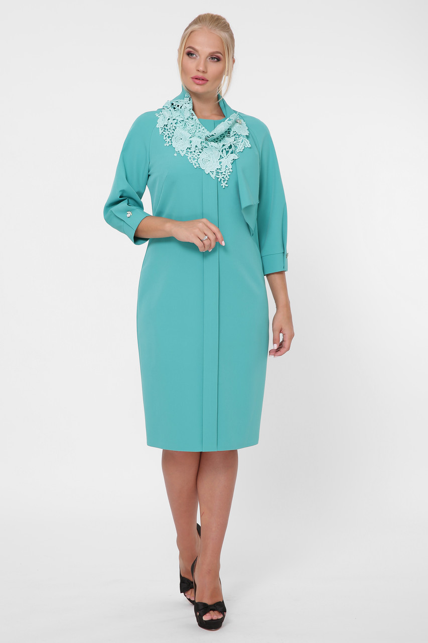 Стильное платье женское Элиза мята