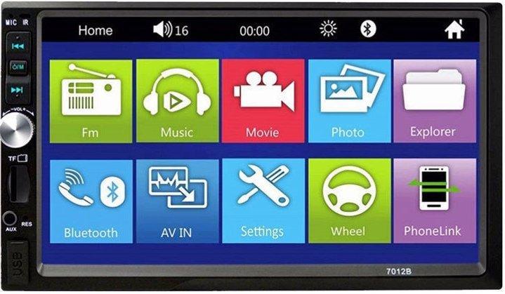 "Автомагнитола 2din Pioneer 7012B 7"" Дюймов Экран - Bluetooth + Пульт + Камера Заднего Вида"