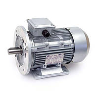 Электродвигатели асинхронные трехфазные. Исполнение- на лапах и с фланцем. 750 об/мин, 1.1 кВт