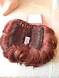 Шиньон-накладка короткий на гребешках темно-рыжий 988-130, фото 2