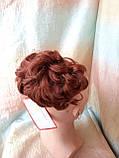 Шиньон-накладка короткий на гребешках темно-рыжий 988-130, фото 5