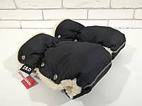 Рукавички-Муфта на коляску Z&D New Черный, фото 1