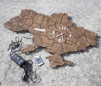 Карта Украины из часами