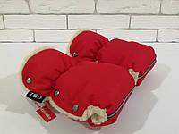 Рукавички-Муфта на коляску Z&D New Красный, фото 1