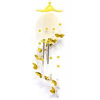 Музыка ветра Ангелы с золотыми крыльями 64 см.
