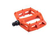 Нейлоновые платформенные педали с литыми шипами DMR V6 (Orange), оранжевые