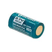 Аккумуляторная батарея Olight RCR123А Li-Ion 3.7v 650 mAh (ORB2-163P06)