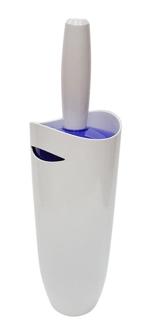 Йорж з підставкою для унітазу Primanova (біло-фіолетовий)