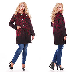 Женское пальто бордо