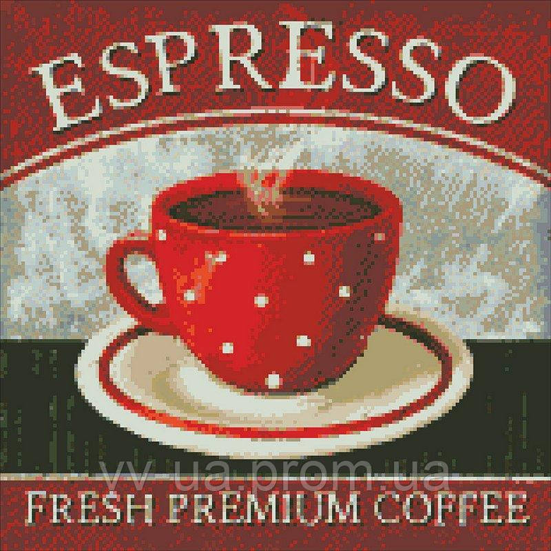 Алмазная мозаика Премиум кофе, 40x40 см (АМ 6021)