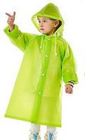 Дождевик детский для мальчика на кнопках многоразовый C-1010 Зеленый