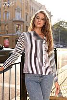Молодежная рубашка в полоску, фото 2