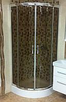 Кабина душевая полукруглая Italian Style VENICE (900х900х1850) V1392EG (коричневая AK), фото 1