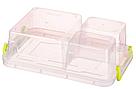 Контейнер для хранения продуктов с зажимами, тройной - 1,63л, фото 2