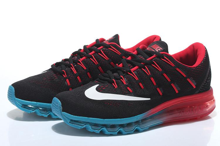 59c54b3c86ea Кроссовки мужские Nike Air Max 2016 black-red-blue - Интернет магазин обуви  Shoes