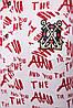 Рубашка женская Ангелина газета красная, фото 3
