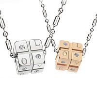 """Парные кулоны для влюбленных """"Кубики"""" , фото 1"""