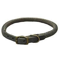 Ошейник для собак Coastal Circle-T кожаный, шоколад 1,6смХ50см