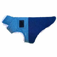 Жилет для собак Noble Pet Norris M Синий с белым N4102 M, КОД: 218738