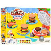 Тесто для лепки «Гамбургеры» play-doh (aналог)