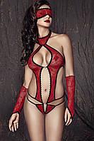 Красное кружевное боди Anais Ashley, XL