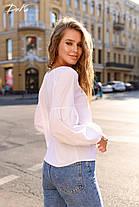 Свободная блуза в однотонной расцветке, фото 3