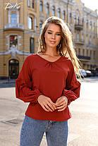 Свободная блуза в однотонной расцветке, фото 2