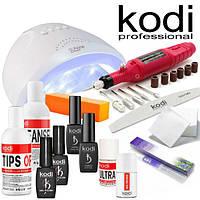Стартовый набор для покрытия ногтей гель лаком  Kodi с лампой SUN One 48 w и фрезером