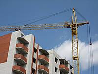 Аренда башенного крана КБ403 высотой 42 метра при горизонтальной стреле.