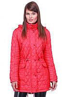Стильная женская удлиненная стеганная курточка , фото 1