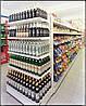 Стеллаж торцевой для магазина с усиленными полками под алкоголь WIKO. Торговое оборудование в магазин