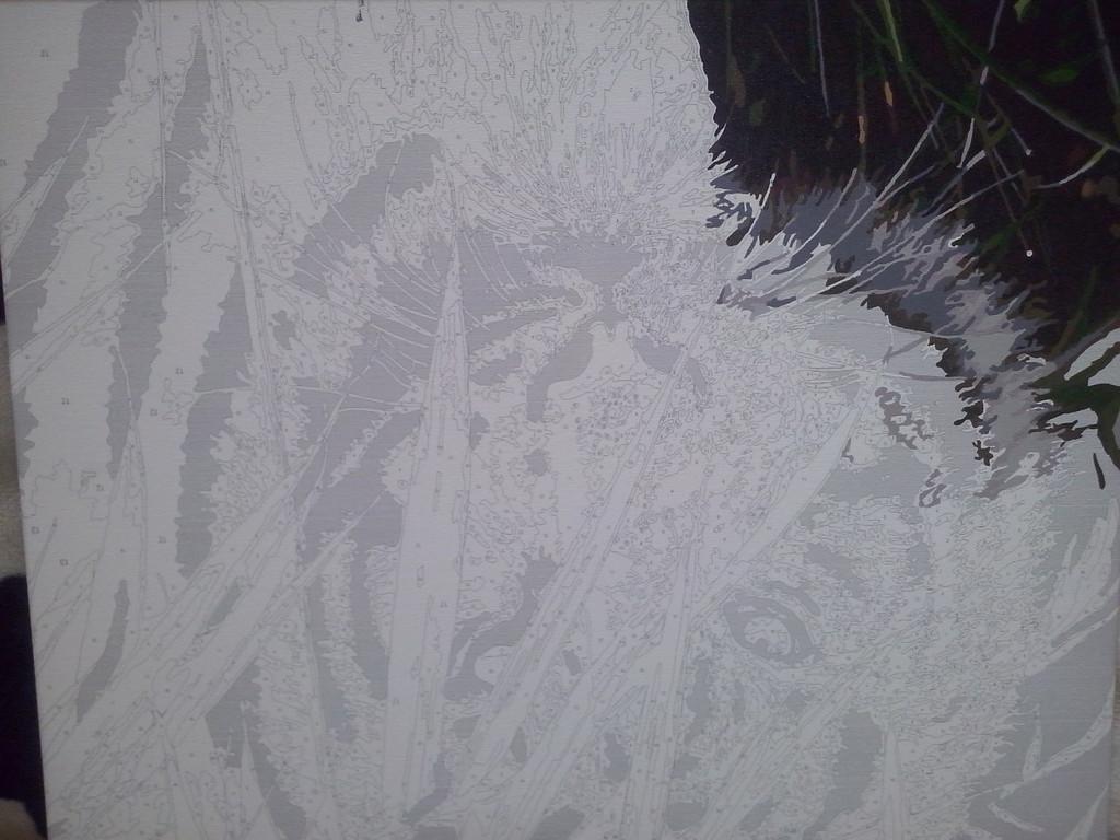 "Как рисовалась картина по номерам MENGLEI ""Амурский тигр"" MG1003 3"
