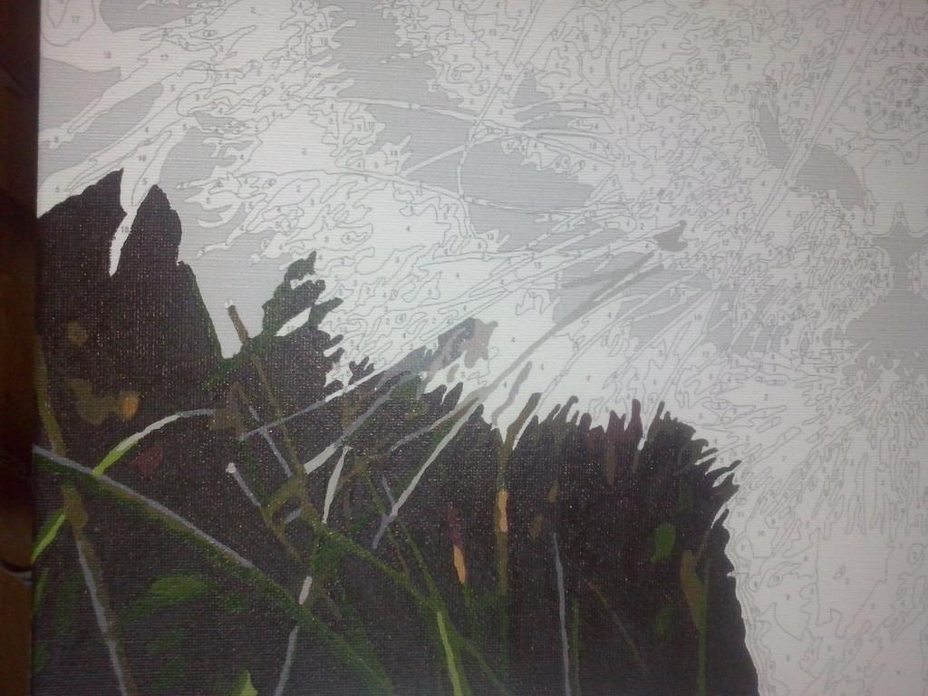 "Как рисовалась картина по номерам MENGLEI ""Амурский тигр"" MG1003 4"