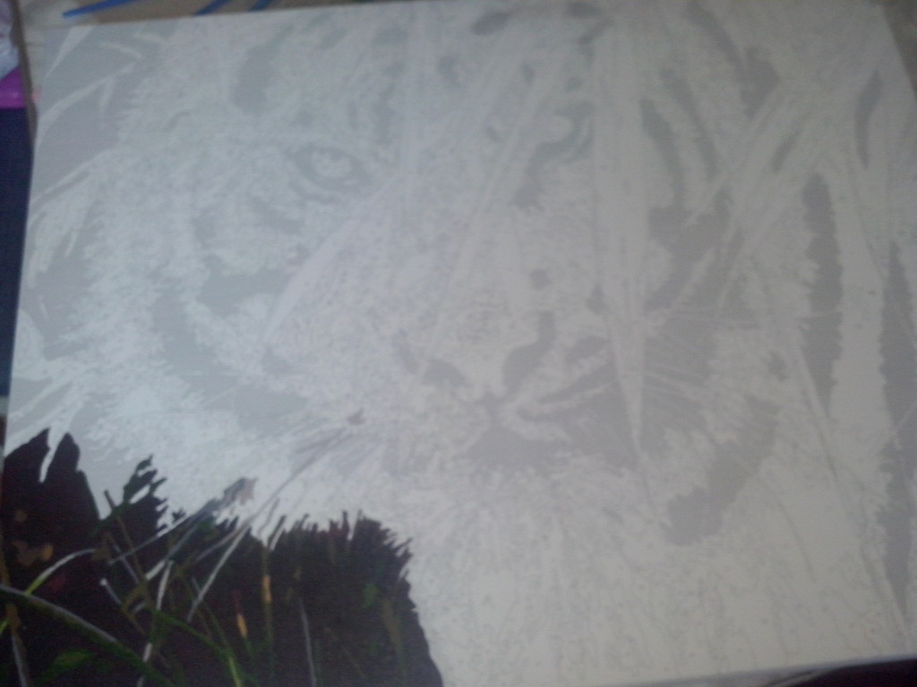 "Как рисовалась картина по номерам MENGLEI ""Амурский тигр"" MG1003 2"