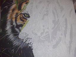 "Как рисовалась картина по номерам MENGLEI ""Амурский тигр"" MG1003 13"