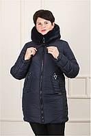 Женская зимняя куртка с красивым мехом.