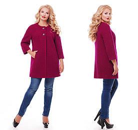 Пальто женское цвета вишни