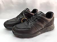 Стильные комфортные осенние кожаные кроссовки Bertoni