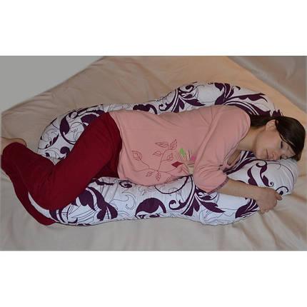 Подушка для беременных Комфорт цвет Совы на сером, фото 2
