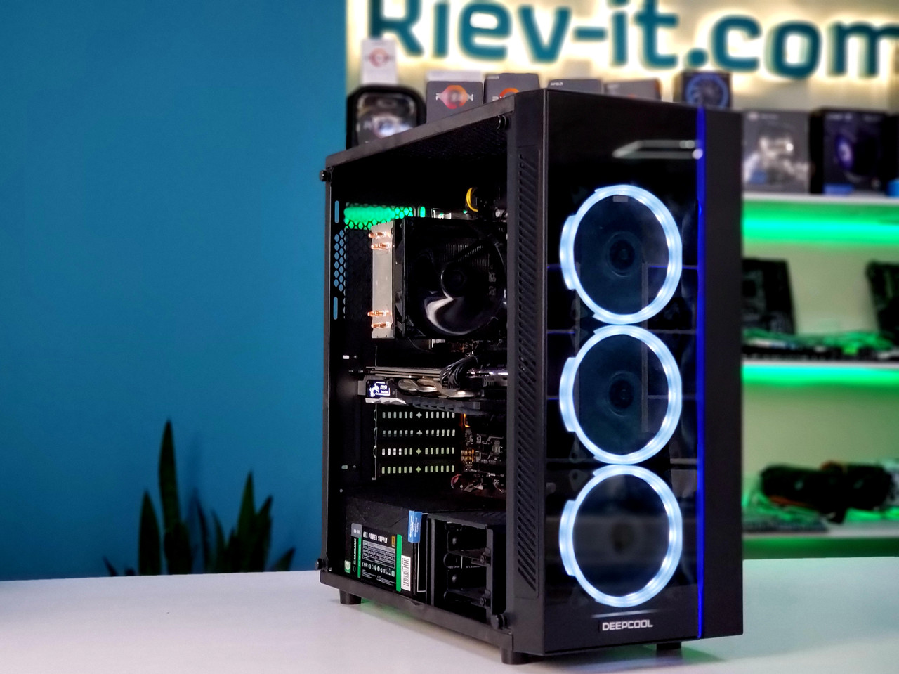 "Игровой компьютер KIEV-IT™ ""Dark Knight"" i5 9600KF | Z390 | GTX 1070 | DDR4 16GB | NVMe 256GB | HDD 1TB"