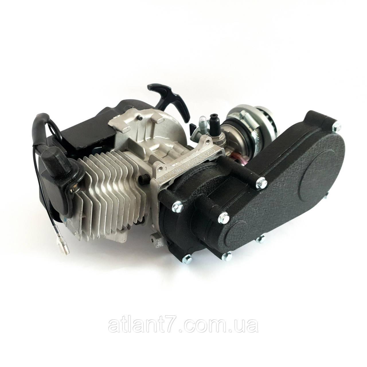 Двигатель для мини-байка, мини кросс-байка, Pocket bike 49 куб.см. с редуктором