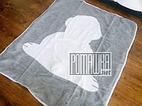 Вязаный с подкладкой детский плед одеяло 90*80 Зайка для новорожденных малышей детей в коляску 4953 Серый