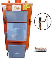 Дровяной котел длительного горения САН Эко мощность 17 кВт + регулятор тяги